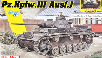 Pz.Kpfw.III Ausf.J Initial Production / Early Production (2 in 1) (1:35) Model Kit tank 6954 - Dragon