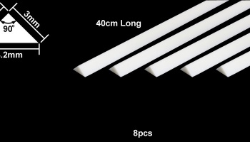 Plastic Beams 3mm Triangle (8pcs)  – Tamiya