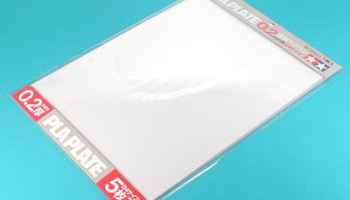 Clear Pla-Plate 0.2mm B4 Size - 5pcs - Tamiya