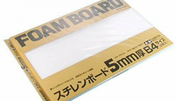 Foam Board 5mm Set 257 x 364mm 2pcs - Tamiya