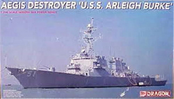 USS Arleigh Burke AEGIS Destroyer 1:700 - Dragon