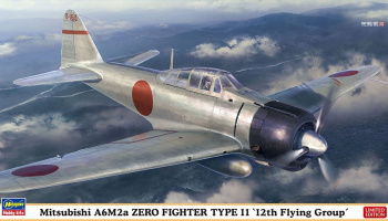 "Mitsubishi A6M2a ZERO FIGHTER TYPE 11 ""12th Flying Group"" 1/48 - Hasegawa"