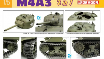 M4A3 105mm Howitzer Tank / M4A3(75)W (2 in 1) (1:6) - Dragon
