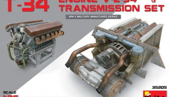 1/35 T-34 Engine(V-2-34) & Transmission Set