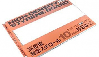 High-Density Styrene Board 10mm B4 (1pc.) - Tamiya