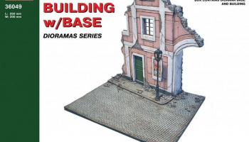 1/35 Ruined Building w/Base