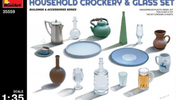 1/35 Household Crockery & Glass Set