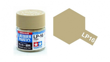 LP-16 Wooden Deck Tan Flat 10ml - Tamiya