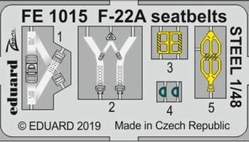 1/48 F-22A seatbelts STEEL for HASEGAWA kit