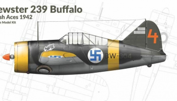 1/72 Brewster 239 Buffalo Finnish Aces