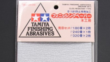 Finishing Abrasives Medium Set - Tamiya