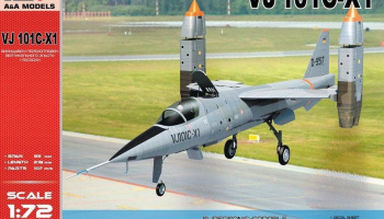 1/72 VJ 101C-X1 Supersonic-capable VTOL fighter