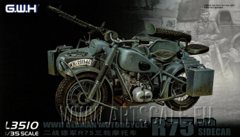 WWII German BMW R75 with Sidecar/w trailers 1/35 – Great Wall Hobby