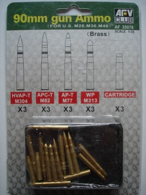 90mm Gun Ammo 1/35 - AFV Club