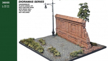 1/35 Diorama with Brick Wall