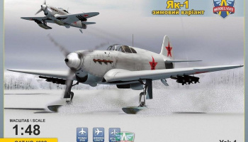 1/48 Yak-1 Soviet fighter on skis