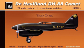1/72 De Havilland DH-88 Comet 'Blacks' - Resin+PE+decal - Full resin kit