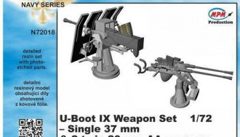 1/72 U-Boot IX Weapon Set for REV