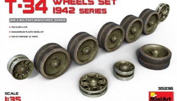 1/35 T-34 Wheels Set. 1942 Series