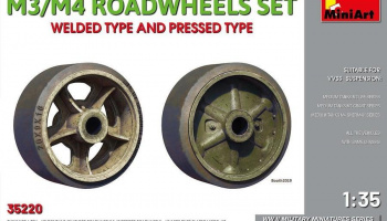 1/35 M3/M4 ROADWHEELS SET. WELDED TYPE AND PRESSED TYPE