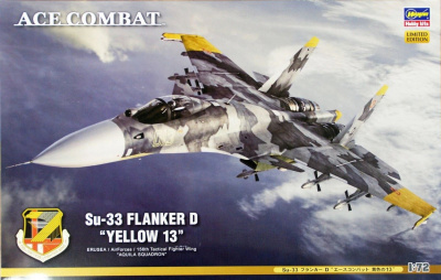 "ACE COMBAT SU-33 Flanker D ""YELLOW 13"" 1/72 - Hasegawa"