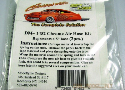 Air Hose Kit Chrome 5'' - Model Car Garage