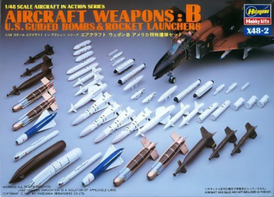 AIRCRAFT WEAPONS: B U.S Smart Bombs Target Pods (1:48) - Hasegawa