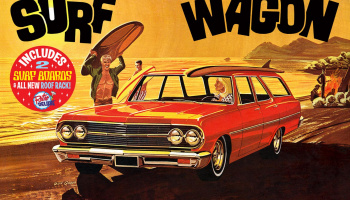 "CHEVELLE 1965 ""SURF WAGON"" 1:25 SCALE MODEL KIT - AMT"