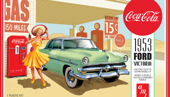 FORD VICTORIA HARDTOP 1953 W/COCA-COLA MACHINE 1:25 SCALE MODEL KIT - AMT