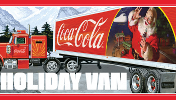 FRUEHAUF HOLIDAY HAULER SEMI TRAILER (COCA-COLA) 1:25 SCALE MODEL KIT - AMT