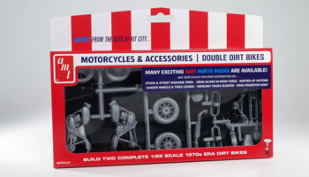 Double Dirt Bike Motorcycles Pack 1970s (2 Kits) - AMT