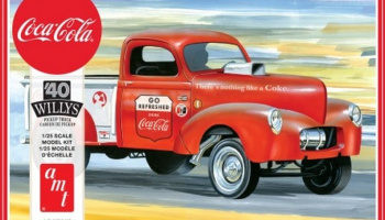 Coca Cola Willys Gasser Pickup 1940 1/25 Scale Model Kit - AMT