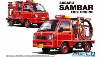 SUBARU TT2 SAMBAR THE FIRE ENGINE '11 1/24 - Aoshima