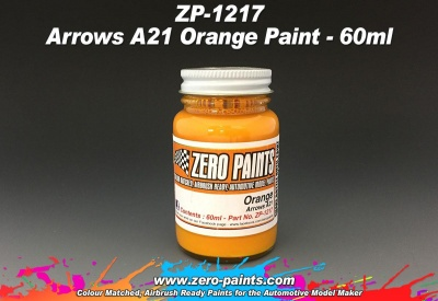Arrows A21 Orange Paint 60ml - zero Paints