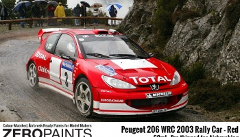Peugeot 206 WRC 2003 Rally Red - Zero Paints