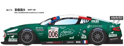 Aston Martin DBR9 2007 Le Mans - Model Factory Hiro