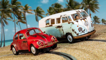 Legends Rusty Rides Volkswagen Beetle & T1B Camper Van (1:32) - Limited Edition SCALEXTRIC C3966A