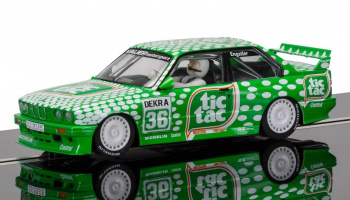 BMW M3 E30, Sport Evolution Team Tic Tac (1:32) - Circuit SCALEXTRIC C3865