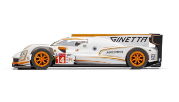 Ginetta G60-LT-P1 No 14 - White & Orange (1:32) GT SCALEXTRIC C4061