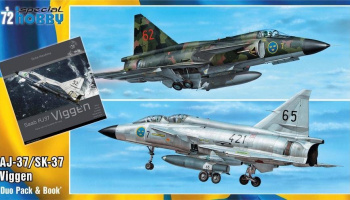 1/72 SAAB 37 Viggen Duo Pack & Book