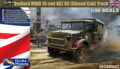 Bedford MWD 15-cwt 4x2 GS (closed cab) Truck 1/35 - Gecko Models