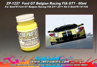 Belgium Racing Yellow Paint for SimilR Ford GT (60ml) - Zero Paints