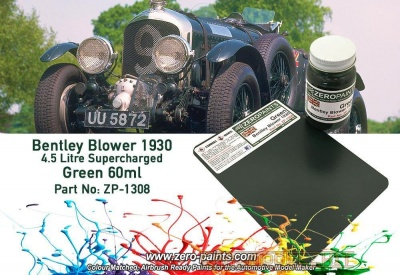 Bentley Blower 4.5 Litre 1930 Green Paint 60ml - Zero Paints