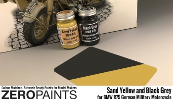 BMW R75 German Military Motorcycle Sand Yellow - Zero Paints