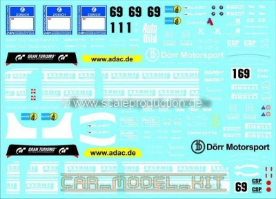 BMW Z4 GT3 24h Nürburgring 2010 Decals - SCALE PRODUCTION