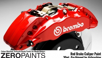 Brake Caliper Red Paint 30ml - Zero Paints