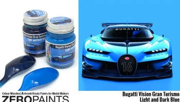 Bugatti Vision Gran Turismo - Light and Blue Paint - Zero Paints