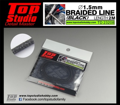 Braided Line Black 1,5mm - Top Studio