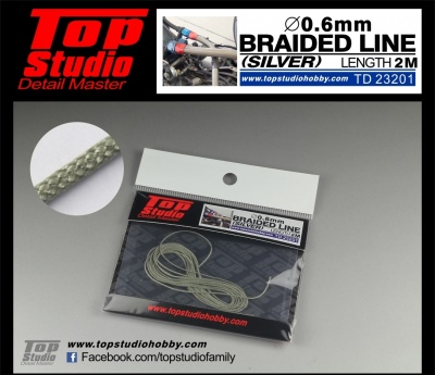 Braided Line Silver 0,6mm - Top Studio