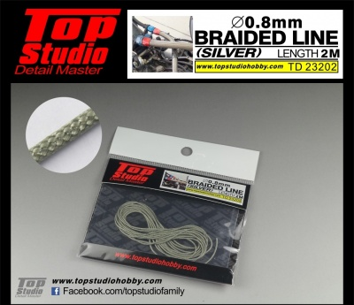 Braided Line Silver 0,8mm - Top Studio